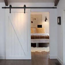 Antique Arrow style Black Sliding Barn Wood Closet Door Hardware Track set kit