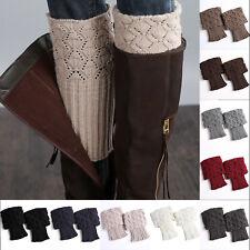 Women's Crochet Knitted Boot Cuffs Winter Shell Leg Warmers Ankle Socks Toppers