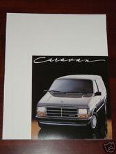 1987 Dodge Caravan Car Automobile Brochure MINT