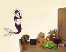 Wandtattoo Meerjungfrau Wandaufkleber 25 Farben Wandsticker  Kinderzimmer