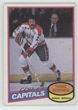 1980-81 O-Pee-Chee #373 Pierre Bouchard Washington Capitals Hockey Card