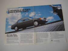 advertising Pubblicità 1986 MERCEDES 200-300 E