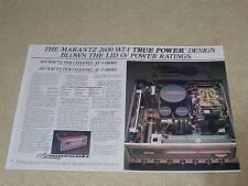 New listing Marantz 2600 Super Receiver Ad, 2 pgs, 1978, Specs,Info