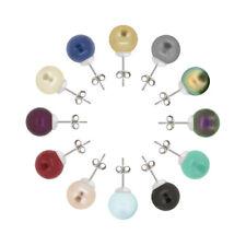 Plata Esterlina Semental Pendientes con SWAROVSKI 5818 10mm Cristal Perlas