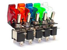 ✅ KFZ Kippschalter Flip-Cover Wippschalter Switch LED beleuchtet EIN/AUS 12V/20A