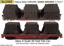 DARK BROWN 'Canvas' Tarped Covered Sheeted Model Road & Rail Load, N, TT, HO, OO