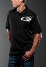 Oakley Men's Rail Polo Printed O Logo Shirt Regular Fit Black Gray Size S M New