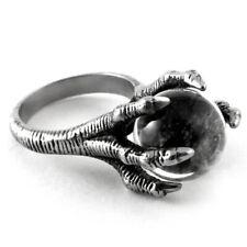 Killstar Gothic Goth Okkult Ring - Dragon Claw Crystal Quartz Kristall Drachen
