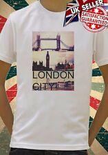 Ciudad de Londres Big Ben Tower Bridge Cool Niños Chicos Chicas Unisex Regalo Camiseta 569