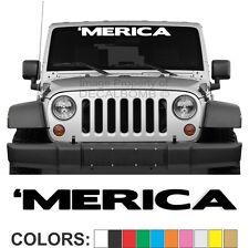 Merica Windshield Decal Sticker Diesel Turbo Car Truck Gun USA Trump America USA