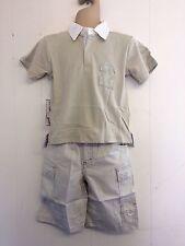 Precioso top estilo rugby Beige Camisa y Pantalones de Hamilton edad 2, 3 o 4yrs BNWT!