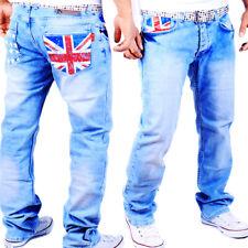 Vaqueros Hombre Diseñador Kosmo Pantalón Cargo Estilo Inglaterra BRITAIN GB WOW