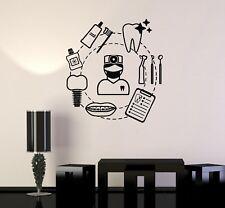 Vinyl Wall Decal Dental Care Dentist Teeth Сlinic Tools Stickers Mural (ig5072)