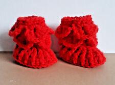 Handmade Crocheted Unisex Crocodile Stitch Bootees 100% Acrylic various colours
