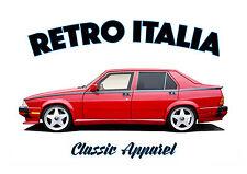 ALFA ROMEO 75 t-shirt. RETRO ITALIA. CLASSIC CAR. ITALIAN.
