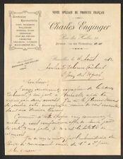 """BRUXELLES (BELGIQUE) VENTE SPECIALE DE PRODUITS FRANCAIS """"Charles ENGINGER"""" 1912"""