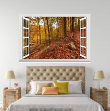 3D Deciduous 006 Open Windows WallPaper Wandbilder Wall Print AJ Jenny