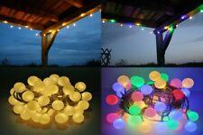 LED Lichterkette Bunt oder Warmweiß Partylichterkette LEDs stabile Kugeln Außen