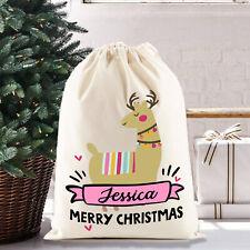 Christmas Santa Sack Gift Bag | Llama | Personalised