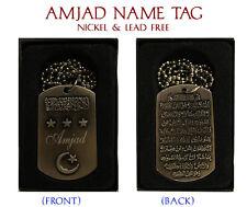 Collar de nombre de la etiqueta Ahmed, Ajmal, Akbar, Ali, ali-italic, Altaf, amaan, Amin, Emir