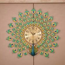 Peacock golden diamond wall clock fashion quiet modern creative clock Home Decor