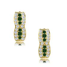 14k Yellow Gold Birthstone Fancy Leverback Earrings 12 Month Gemstone Item# L23-