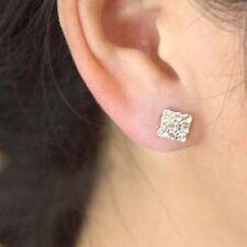 Crystal rhinestone diamante earings 3by3/4by4/5by5 stud Men/Women (Piercing)