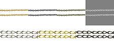 Iron Chain - in 1m & 5m, Silver, Golden, Black. Necklace Bracelet , keychain