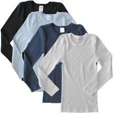 Kinder Unterhemd langarm Shirt Jungen Mädchen Baumwolle Unterwäsche HERMKO 2830