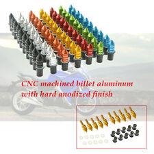 10Pcs/set M5 Motorcycle CNC aluminum Fairing Windscreen Spike Bolts Washers