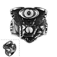 Stainless Steel Punk Antique Gothic Biker Tribal Ring Black Men's Unisex B199