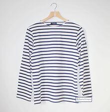 Saint James a Rayas Camiseta Blanco/Azul Marino St Minquiers Moderne Breton Top