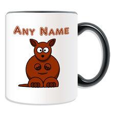 Personalised Gift Kangaroo Mug Money Box Cup Customise Name Tea Coffee Silly Boy