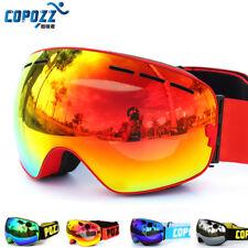 COPOZZ marque ski lunettes double couches UV400 anti-brouillard grand masque