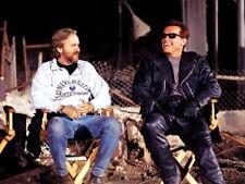 Terminator Arnold Schwarzenegger Behind the Scenes Giant Wall Print POSTER