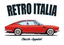 Fiat Dino Coupe T-shirt. Retro Italia. coche clásico. diseño de Bertone.