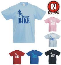 Nacido Para Bicicleta Mountain Bike Bmx Ciclismo Kids Para Niños Camiseta 3yrs hasta 13yrs