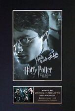 DANIEL RADCLIFFE Signed Mounted Autograph Photo Prints A4 134