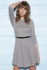 Club L 3/4 Skater Dress With Belt Geo Print Sizes 12, 16 BNWT