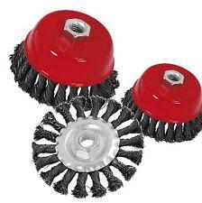 Tazas de alambre de nudo torcedura y ruedas-con descuento con múltiples comprar M14 eliminación de óxido