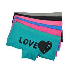 3,6,12 Pack Women Boxers Cotton LOVE Girls Ladies Knickers Underwear Panties 216