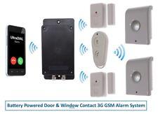 Covert Batterie 3 G GSM ultradial alarme avec 2 x Magnétique Contacts & 2 X sirènes