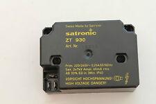 Hochfrequenzzündeinrichtung Satronic ZT 930 1mm zur Wahl Netzkabel und Zündkabel