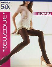 Italienische Damen Strumpfhose Elledue Micrifibra  Blickdicht 50 DEN