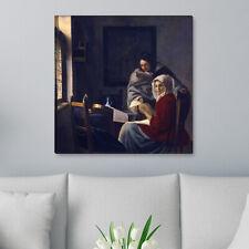 """WANDKINGS Leinwandbild Jan Vermeer - """"die unterbrochene Musikstunde"""""""