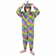 Kids Girls A2Z Onesie One Piece Unicorn Print Soft Rainbow Xmas Costume 2-13 Yrs