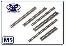 5MM (M5 / 5mm) A2 ST/STEEL THREADED BAR ALLTHREAD STUDDING STUDS 100MM TO 350MM