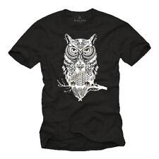 Eulen T-Shirt Herren/Männer Swag Hipster EULE Fashion Print Druck Aufdruck Cool
