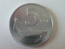 5 LIRE DELFINO 1951-1952-1953-1954-1955-1966-1967 *FDC*