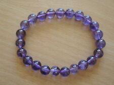 8 mm  Amethyst Gemstone Stretchy Bracelet-br13